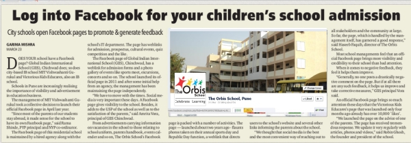 The Orbis School on Facebook Indian Express Pune