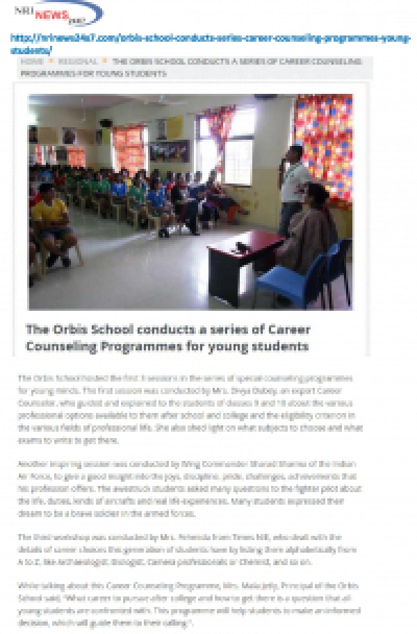Orbis School hosts career counselling programme