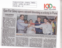 Launch of Orbis Gun for Glory Shooting Academy